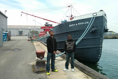 Laurenzo Reed and Jesus Benitez, both 23, are the two Digital Stewards organizing the first ever Red Hook Regatta.