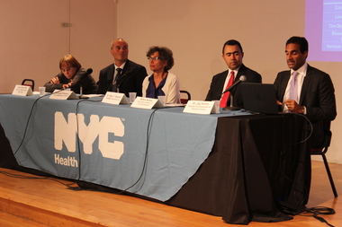 Health officials worked to educate Bronx residents about Legionnaires' disease at a town hall meeting on Monday night.