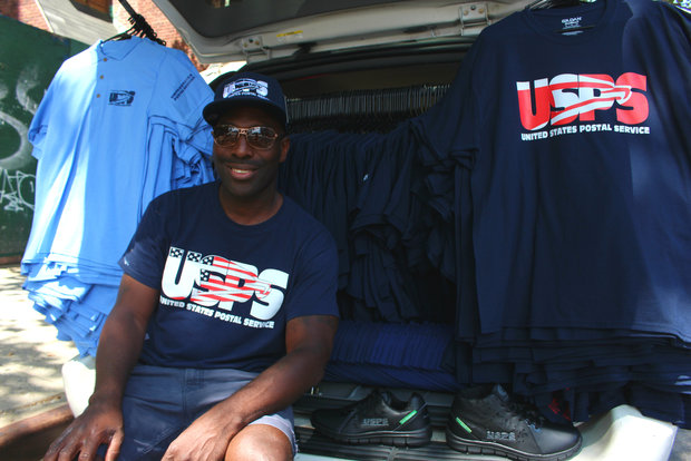 former postman marty grace sells his own version of usps uniforms to postal workers around the