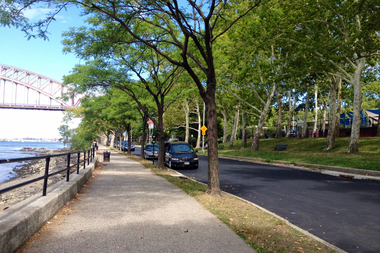 The city is converting the Astoria Park street to a one-way road by turning one lane into a bike path.