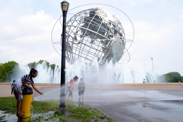 The Unisphere at Flushing Meadows-Corona Park.