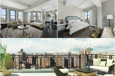 There are currently three units on the market in this brand new condo pre-war loft conversion at 315 Seventh Ave., near West 28th Street in Chelsea, ranging from a one-bedroom listed by Warburg Realty for $1.25 million to this two-bedroom penthouse listed for $3.6 million.