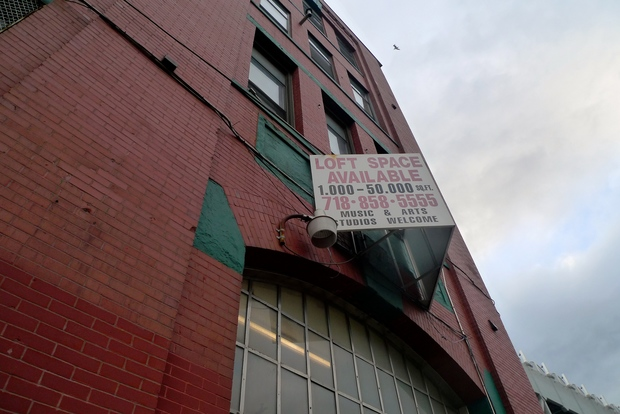 94 Ninth St. between Second Avenue and the Gowanus Canal. Artists and musicians who rent studio space in the building have been told their leases aren't being renewed.