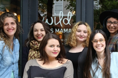Adriane Stare, owner of Wild Was Mama (formerly Caribou Baby) at far left with store staff. Stare is opening a Park Slope location at 464 Bergen St. in fall 2015.