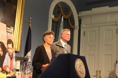 Seven people have been hospitalized with Legionnaires' disease in the second outbreak of the waterborne illness in The Bronx this year, the Health Department announced Monday afternoon. Mayor Bill de Blasio and Health Commissioner Dr. Mary Bassett discussed the cluster Monday, Sept. 28, 2015, at City Hall.