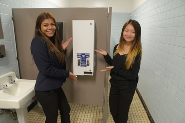 Trash Bins Coming To School Bathroom Stalls As City Provides Free - School bathroom stalls