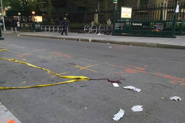 He was slashed near Broadway and Fulton Street, officials said.