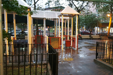 NYCHA plans to replace a playground at Holmes Towers with more housing.