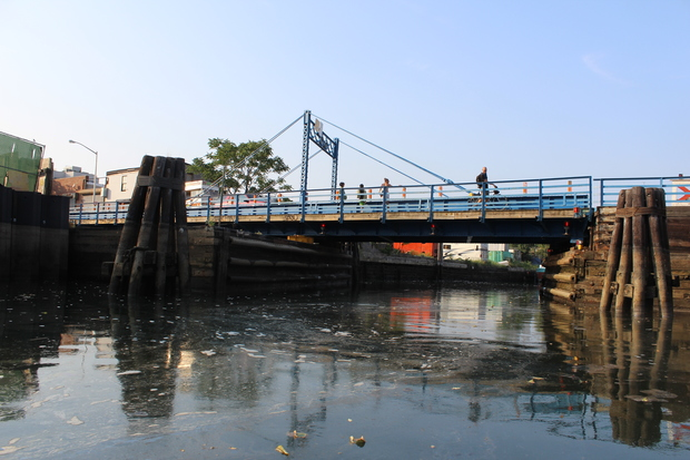 The Carroll Street bridge on the Gowanus Canal. City officials have said that a proposal for a streetcar between Brooklyn and Queens could require new bridges over the Gowanus Canal and Newtown Creek.