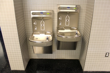 Water fountains at a Brooklyn school.