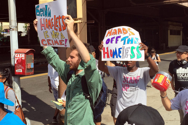 Advocates marched in East Harlem to call from more housing to help the city's homeless population.