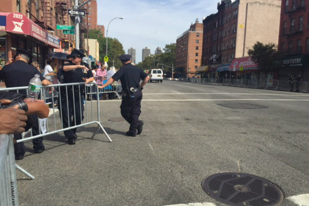 Several people had a hard time getting home because of Pope-related street closures Friday morning.
