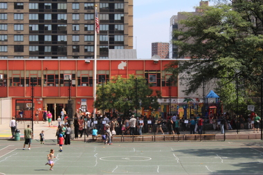 P.S. 198 and P.S. 77, which share a property, want $500,000 for new playground equipment and to resurface the play area.