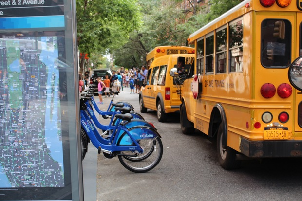 Parents of students at P.S. 290 were angry to see a new Citi Bike station outside of the school on Friday.