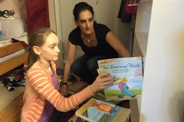 Maeve Richmond, of Maeve's Method, helped New York City sisters Gwynne and Devyn organize their room.