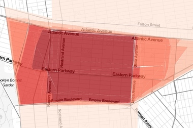 This composite map shows where most people drew the borders of Crown Heights on DNAinfo New York's interactive asking New Yorkers to draw their own neighborhoods.