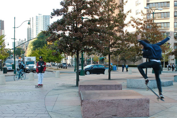 Residents say skateboarders frequent the circle and make it hard for others to use it.