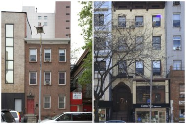The Landmarks Preservation Commission will hold a special hearing to decide if 95 sites cityside, including 2 Oliver St., left, and 138 Second Avenue, right, should be landmarked.
