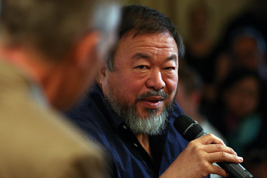 Chinese artist Ai Weiwei at the Royal Academy of Arts on September 11, 2015 in London. The Lego Company rejected a bulk order from Weiwei for art installations.