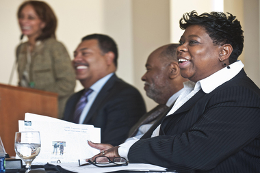 Darcel Clark announced her plan for restructuring the Bronx District Attorney's Office on Wednesday.