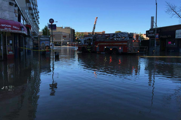 Streets Flooded and Buildings Evacuated After Massive Water Main Break