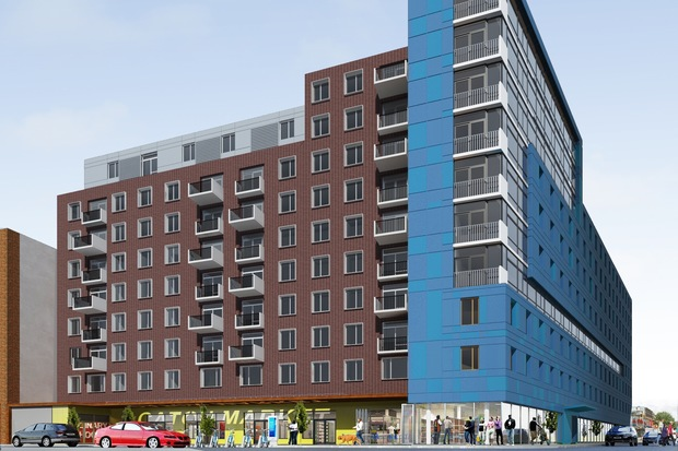 This new 166-unit building will replace the Flatbush Caton Market in Flatbush, Brooklyn, the NYCEDC announced Tuesday.