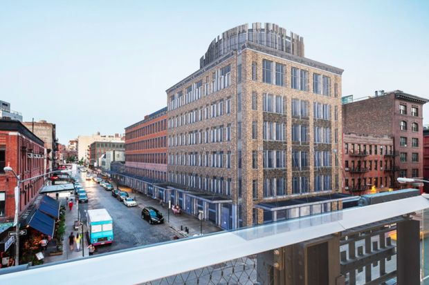 A rendering of how the Gansevoort Street project will look from the High Line.