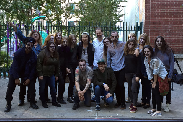 A film crew turned 103rd Street into the heart of the zombie apocalypse over the weekend.