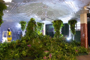 The Lowline Lab demonstrates the aesthetic and technology that would be used in the underground park.
