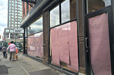 American Apparel closed its Lower East Side outpost at the corner of East Houston and Orchard streets, according to signs on its door.