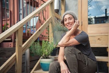 Liz Tortolani is the owner of CityWell Brooklyn, a boutique bathhouse opening soon at 496 President St., near Third Avenue. CityWell will have a steam room, sauna, and an outdoor area. Tortolani's goal is to create a comfortable space where women can relax.