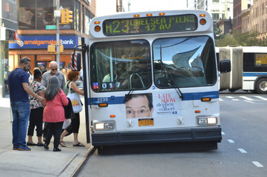 The M23 select bus service crosses Manhattan at 23rd Street.
