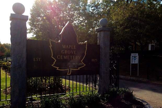 About 500 vases have been stolen from Maple Grove Cemetery over the years.