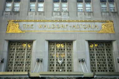 A Westchester man wearing a bullet-proof vest and a ski mask was arrested inside the Waldorf Astoria Monday morning, police said.