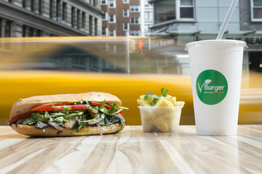 Vegans have a new fast food option in Greenwich Village with the opening of VBurger.