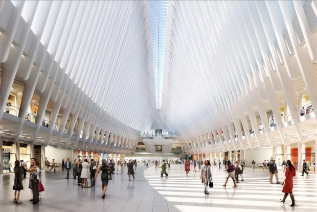 The rendering gives a glimpse of the retail center slated to open inside the WTC transit hub.