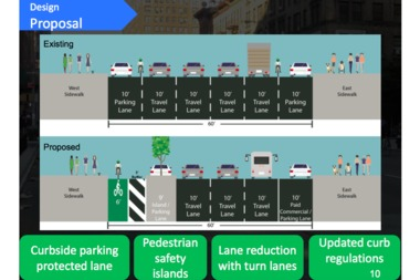 The DOT said it will begin installation of the protected bike lane in mid-May.