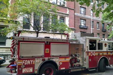 Two people were injured Monday morning after a ceiling collapsed at a former school building on West End Avenue and 87th Street, according to FDNY officials.