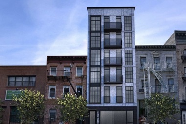 A new rendering shows a building project to go up at 681 Franklin Ave. in Crown Heights.