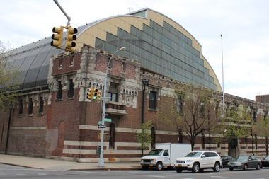The Bedford-Union Armory is located on Bedford Avenue and President Street in Crown Heights.
