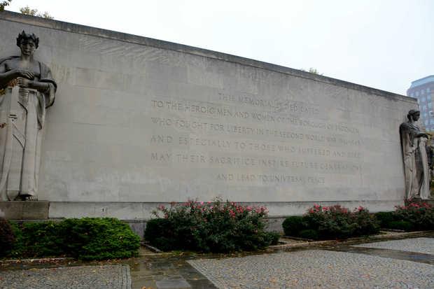The war memorial in Cadman Plaza Park.