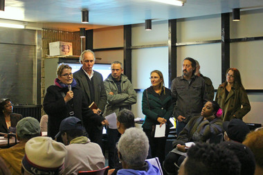 Williamsburg-Greenpoint residents went to community board meetings around the city to convince them to vote against the mayor's zoning proposals.