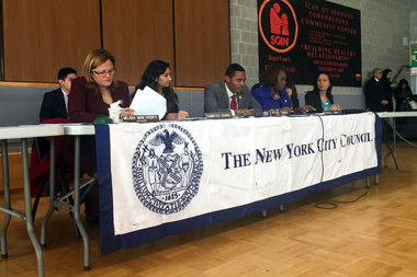 Council members Melissa Mark-Vivierito, Ritchie Torres, and Vanessa Gibson held an oversight hearing to determine the effectiveness of the city's MAP program aimed at reducing crime in 15 NYCHA developments.