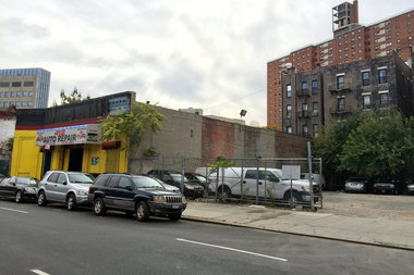 The 9-story hotel would replace the existing auto body shop at 412 W. 126th St.