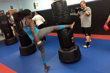 Clients in action at iLoveKickboxing in Boerum Hill. The fitness studio will move to 540 Fifth Ave. in Park Slope in 2016, according to CPEX Real Estate.