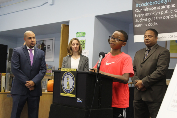 Eric Adams announced Code Brooklyn, an initiative to get every school to participate in Hour of Code.