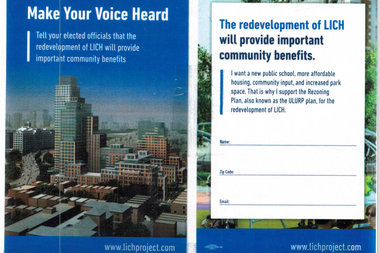 The survey asks residents to support the rezoning plan for Long Island College Hospital's site.