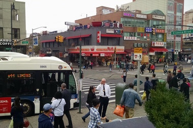 A woman was hit and killed in Flushing near Main Street and Kissena Boulevard, police said.