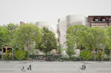 A rendering of the Gilder Center, the planned expansion of the American Museum of Natural History