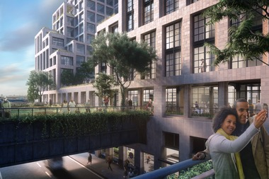 The commissioners asked whyaffordable units were isolated in one of the project's three buildings.